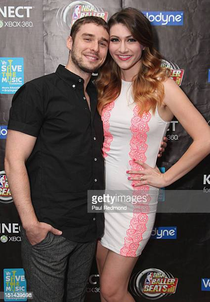Musicians Nick Noonan and Amy Heidemann of Karmin attend 2012 NBA Baller Beats For Xbox 360 VMA Lounge After Party at The RitzCarlton Residences at...