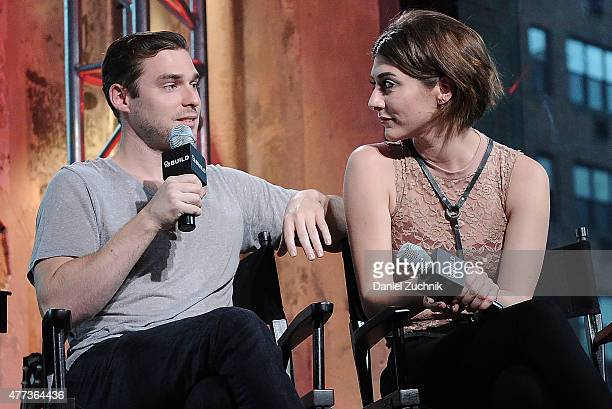 Musicians Nick Noonan and Amy Heidemann of Karmin attend the AOL BUILD Speaker Series Karmin at AOL Studios In New York on June 16 2015 in New York...
