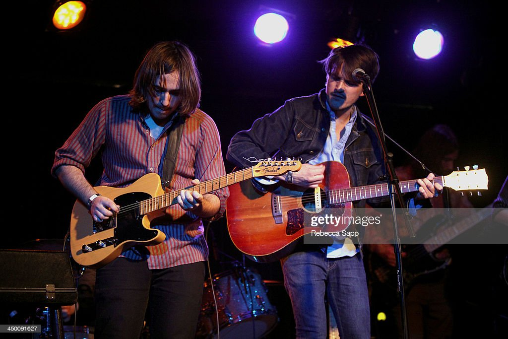 Musicians Nick Stratton and Josh Norton of Beeswax perform onstage at El Cid on November 15, 2013 in Los Angeles, California.