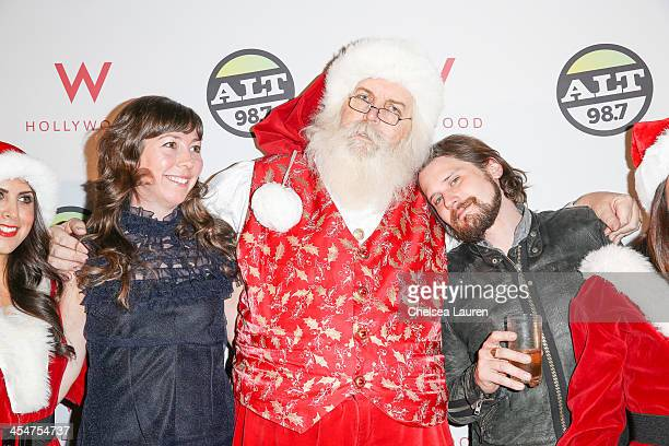 Musicians Nikki Monninger and Brian Aubert of Silversun Pickups attend the ALTimate Rooftop Christmas Party at W Hollywood on December 9 2013 in...