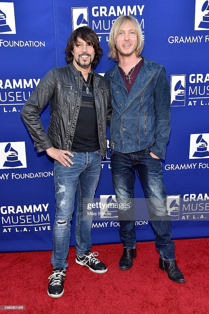 Musicians Noah Hunt (L) and Kenny Wayne Shepherd at Icon: The Life And Legacy Of B.B. King, a live tribute concert presented by the GRAMMY Foundation and GRAMMY Museum and sponsored in part by Gibson Memphis and the Gibson Foundation, and by Brian and Adria Sheth, on September 1, 2016 at the at the Wallis Annenberg Center for the Performing Arts in Beverly Hills, Calif. For more information visit www.grammyfoundation.org and www.grammymuseum.org.
