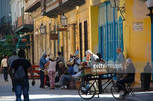 Musicians old Havana Cuba