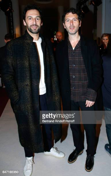 Musicians Olivier Coursier and Simon Buret attend the Alexis Mabille show as part of the Paris Fashion Week Womenswear Fall/Winter 2017/2018 on March...