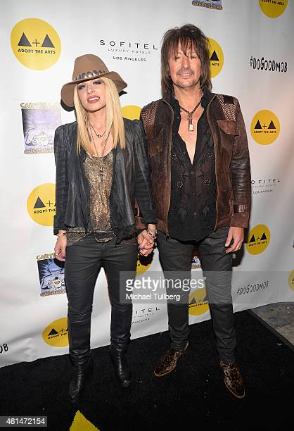 Musicians Orianthi and Richie Sambora attend Adopt The Arts Live Benefit Concert For LAUSD Elementary Schools at The Roxy Theatre on January 12 2015...