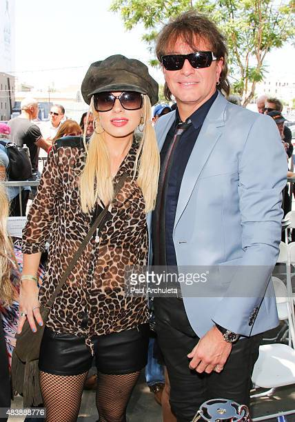 Musicians Orianthi and Richie Sambora attend the ceremony to honor Al Schmitt with a Star on the Hollywood Walk Of Fame on August 13 2015 in Los...