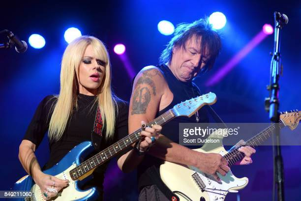 Musicians Orianthi and Richie Sambora perform onstage during the 10th annual Medlock Krieger All Star Concert benefiting St Judes Children's Research...