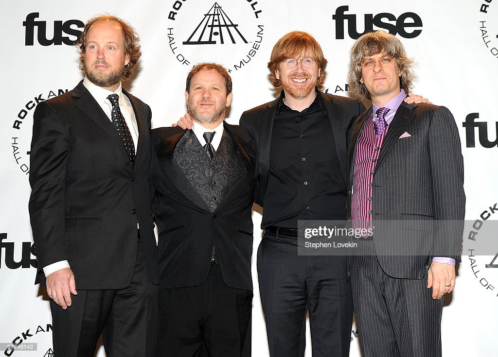 Musicians Page McConnell, Jon Fishman, Trey Anastasio and Mike Gordon of Phish attend the 25th Annual Rock And Roll Hall of Fame Induction Ceremony at the Waldorf=Astoria on March 15, 2010 in New York City.