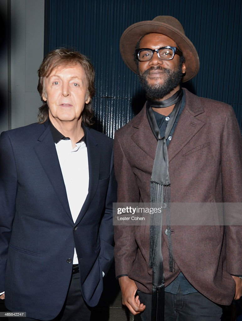 Musicians <a gi-track='captionPersonalityLinkClicked' href=/galleries/search?phrase=Paul+McCartney&family=editorial&specificpeople=92298 ng-click='$event.stopPropagation()'>Paul McCartney</a> (L) and <a gi-track='captionPersonalityLinkClicked' href=/galleries/search?phrase=Gary+Clark+Jr.&family=editorial&specificpeople=4495733 ng-click='$event.stopPropagation()'>Gary Clark Jr.</a> attend 'The Night That Changed America: A GRAMMY Salute To The Beatles' at the Los Angeles Convention Center on January 27, 2014 in Los Angeles, California.