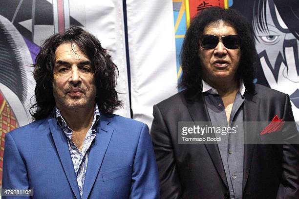 Musicians Paul Stanley Gene Simmons attend the press conference and concert hosted by KISS members Gene Simmons and Paul Stanley for Japanese Pop...
