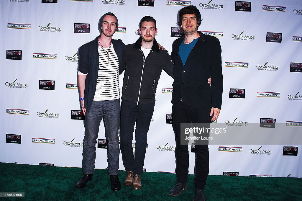 Musicians Paul Wilson, <a gi-track='captionPersonalityLinkClicked' href=/galleries/search?phrase=Gary+Lightbody&family=editorial&specificpeople=227230 ng-click='$event.stopPropagation()'>Gary Lightbody</a> and <a gi-track='captionPersonalityLinkClicked' href=/galleries/search?phrase=Nathan+Connolly&family=editorial&specificpeople=2636666 ng-click='$event.stopPropagation()'>Nathan Connolly</a> of <a gi-track='captionPersonalityLinkClicked' href=/galleries/search?phrase=Snow+Patrol&family=editorial&specificpeople=783301 ng-click='$event.stopPropagation()'>Snow Patrol</a> attends the 9th Annual 'Oscar Wilde: Honoring The Irish In Film' Pre-Academy Awards event at Bad Robot on February 27, 2014 in Santa Monica, California.