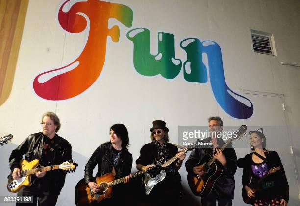 Musicians perform during the Tom Petty Memorial Vampire Walk down Ventura Blvd on October 19 2017 in Sherman Oaks California