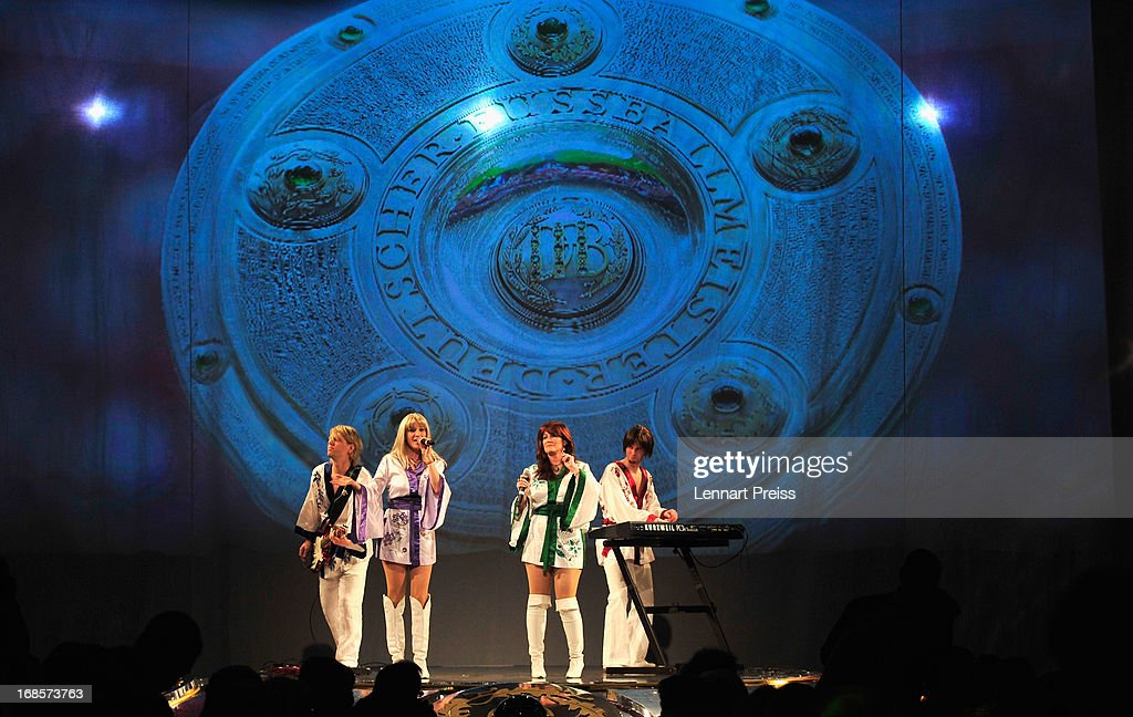 Musicians performs during the Official Champion dinner of Bayern Muenchen at Postpalast on May 12, 2013 in Munich, Germany.