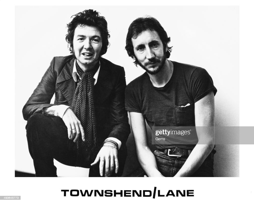Musicians Pete Townshend (right) and Ronnie Lane (1946 - 1997), circa 1976.