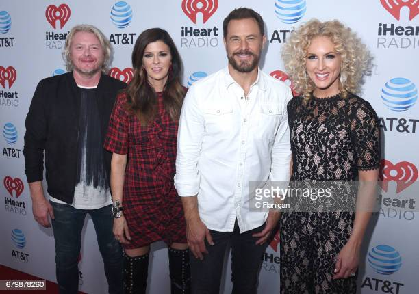 Musicians Philip Sweet Karen Fairchild Jimi Westbrook and Kimberly Schlapman of Little Big Town attend the 2017 iHeartCountry Festival A Music...