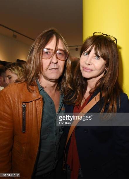 Musicians Pierre Emery and Gil Lesage from Ultra Orange band attend the 'Lignee' by jean Charles de Castelbajac Father an sons hosted by Fujifilm X...
