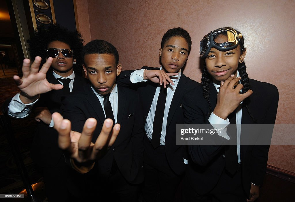 Musicians Princeton Prodigy Roc Royal and Ray Ray of the music group Mindless Behavior attend the Mindless Behavior 'All Around The World' New York...
