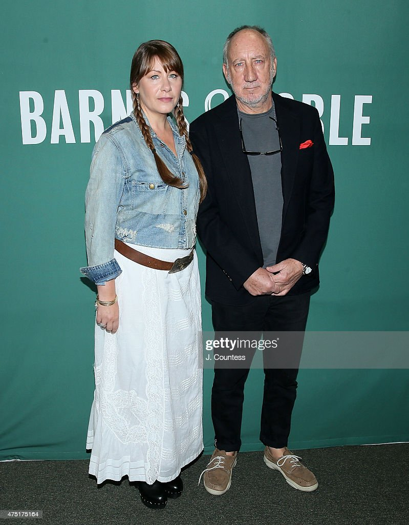 Musicians Rachel Fuller and Pete Townshend attend the CD signing for 'Classic Quadrophenia' at Barnes & Noble Union Square on May 29, 2015 in New York City.