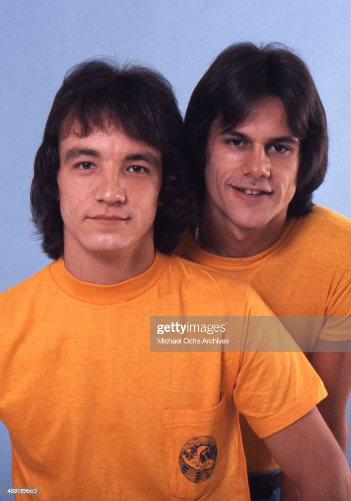 Musicians Rick Finch and Henry Wayne 'KC' Casey of the funk group 'KC and the Sunshine Band' poses for a portrait in circa 1975 in Miami, Florida.
