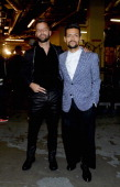 Musicians Ricky Martin and Draco Rosa attend The 14th Annual Latin GRAMMY Awards at the Mandalay Bay Events Center on November 21 2013 in Las Vegas...