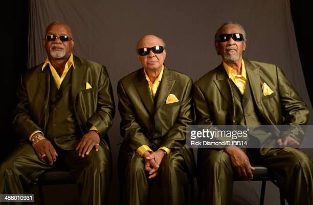 Musicians Ricky McKinnie Jimmy Carter and Ben Moore of the Blind Boys of Alabama pose for a photo prior to The Musical Mojo of Dr John A Celebration...
