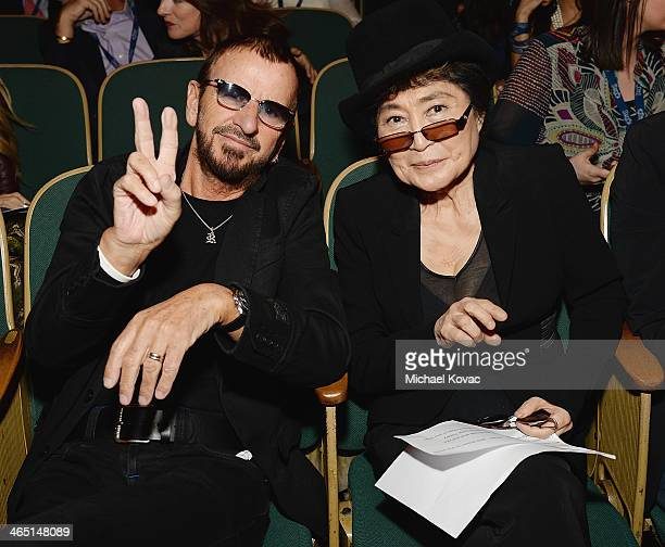 Musicians Ringo Starr and Yoko Ono attend the Special Merit Awards Ceremony of the 56th GRAMMY Awards on January 25 2014 in Los Angeles California