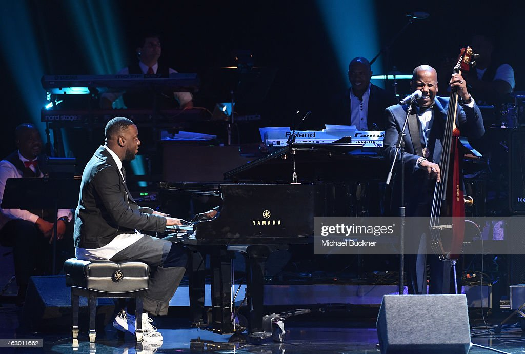 Musicians Robert Glasper, Ray Chew and Nathan East perform onstage at the Premiere Ceremony during The 57th Annual GRAMMY Awards at the Nokia Theatre L.A. LIVE on February 8, 2015 in Los Angeles, California.