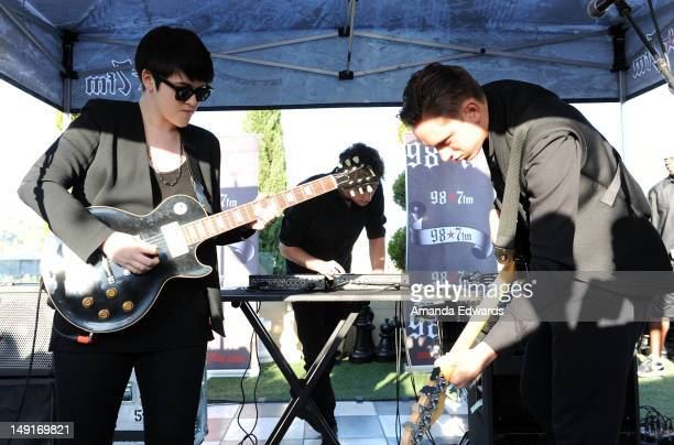 Musicians Romy Madley Croft Jamie Smith and Oliver Sim of The xx perform onstage at the 987 FM Penthouse Party Presents The xx Exclusive Live...