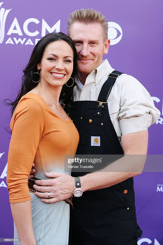 Musicians Rory Lee Feek and Joey Martin Feek of Joey Rory arrives at the 48th Annual Academy of Country Music Awards at the MGM Grand Garden Arena on...