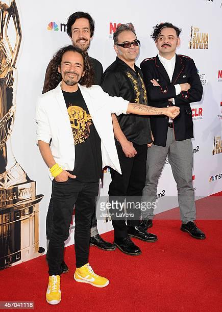 Musicians Ruben Isaac Albarran Ortega Emmanuel del Real Joselo Rangel and Enrique Rangel of Cafe Tacvba attend the 2014 NCLR ALMA Awards at Pasadena...