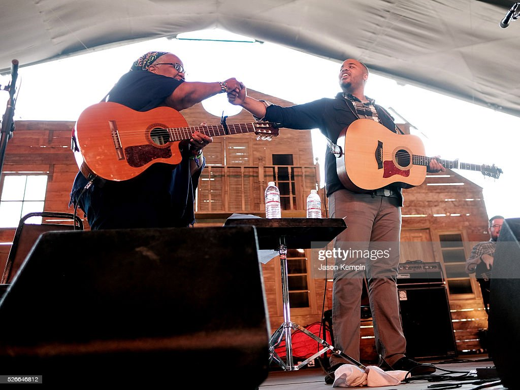 Musicians Ruth Ward (L) and Madisen Ward of Madisen Ward and the Mama Bear perform onstage during 2016 Stagecoach California's Country Music Festival at Empire Polo Club on April 30, 2016 in Indio, California.