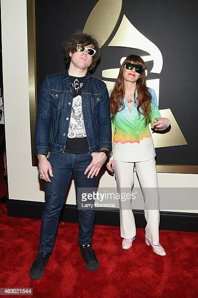 Musicians Ryan Adams and Jenny Lewis attend The 57th Annual GRAMMY Awards at the STAPLES Center on February 8 2015 in Los Angeles California