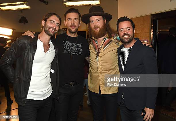 Musicians Ryan Hurd TJ Osborne John Osborne and Brad Tursi attend the 2016 CMT Music awards at the Bridgestone Arena on June 8 2016 in Nashville...