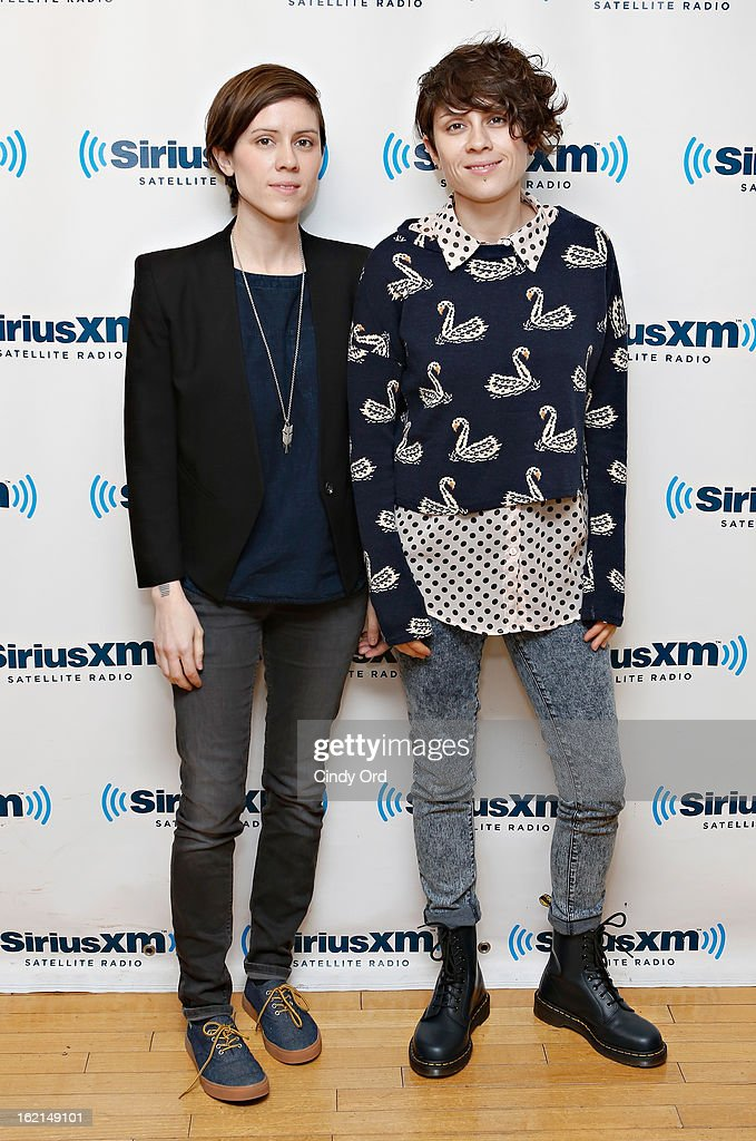 Musicians <a gi-track='captionPersonalityLinkClicked' href=/galleries/search?phrase=Sara+Quin&family=editorial&specificpeople=2303840 ng-click='$event.stopPropagation()'>Sara Quin</a> and <a gi-track='captionPersonalityLinkClicked' href=/galleries/search?phrase=Tegan+Quin&family=editorial&specificpeople=2351694 ng-click='$event.stopPropagation()'>Tegan Quin</a> of Tegan and Sara visit the SiriusXM Studios on February 19, 2013 in New York City.
