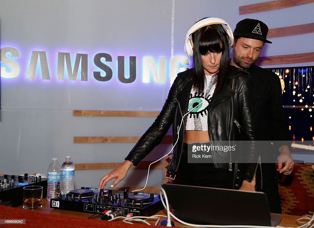 Musicians Sarah Barthel and Josh Carter of Phantogram perform onstage durin Samsung Supper Club with Mary J Blige at SXSW 2015 on March 17 2015 in...