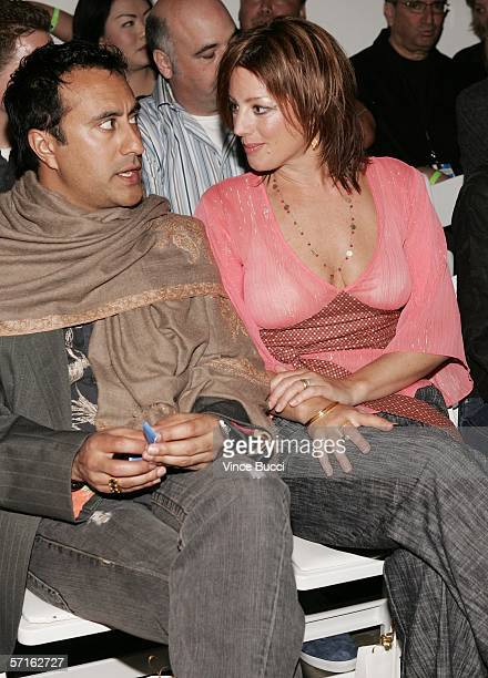 Musicians Sarah McLachlan and husband Ashwin Sood in the front row at the Chulo Pony Fall 2006 show during the Mercedes Benz Fashion Week at Smashbox...