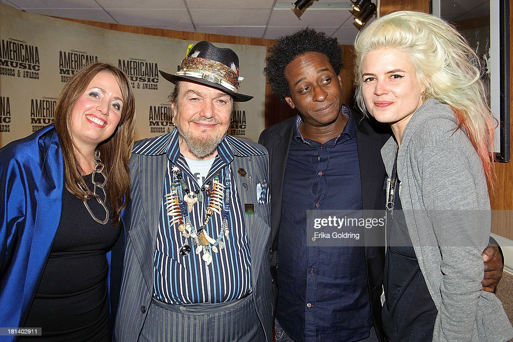Musicians Sarah Morrow, Mac Rebennack aka Dr. John, Brady Blade and Alison Mosshart backstage at the 12th Annual Americana Music Honors And Awards Ceremony Presented By Nissan on September 18, 2013 in Nashville, United States.