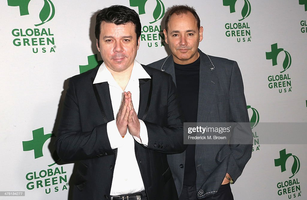 Musicians Scott Kirkland (L) and Ken Jordan of The Crystal Method attend Global Green USA's 11th Annual Pre-Oscar party at Avalon on February 26, 2014 in Hollywood, California.