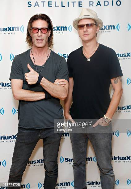 Musicians Sean Kinney and Jerry Cantrell of Alice in Chains visit the SiriusXM Studios on July 17 2013 in New York City