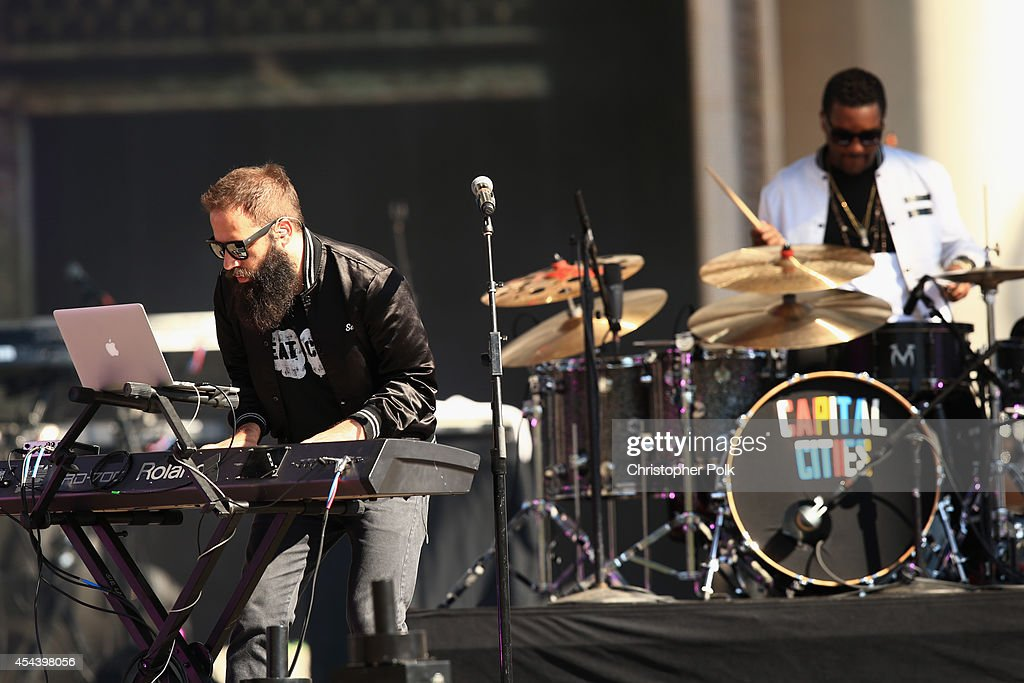 Musicians Sebu Simonian and Channing Cook Holmes performs on during day 1 of the 2014 Budweiser Made in America Festival at Los Angeles Grand Park on...