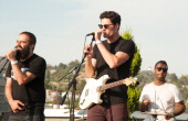 Musicians Sebu Simonian and Ryan Merchant perform onstage at ALT 987FM Penthouse Party Presents Capital Cities In Concert at The Historic Hollywood...
