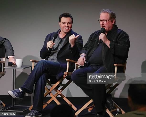 Musicians Seth MacFarlane and Joel McNeely attend Apple Store Soho Presents Meet the Musicians Seth MacFarlane and Joel McNeely 'Holiday for Swing'...