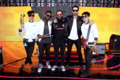 Musicians Spencer Ludwig Channing Cook Holmes Sebu Simonian Ryan Merchant and Manuel Quintero of Capital Cities pose onstage during the 22nd Annual...