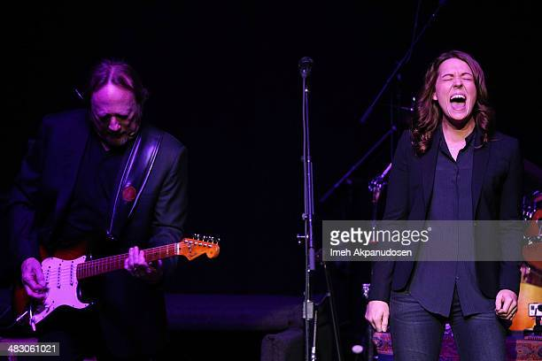 Musicians Stephen Stills and Brandi Carlile perform onstage at the 2nd Light Up The Blues Concert An Evening Of Music To Benefit Autism Speaks at The...