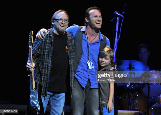 Musicians Stephen Stills Chris Stills and Oliver Stills perform onstage at Light Up The Blues Concert An Evening of Music To Benefit Autism Speaks at...