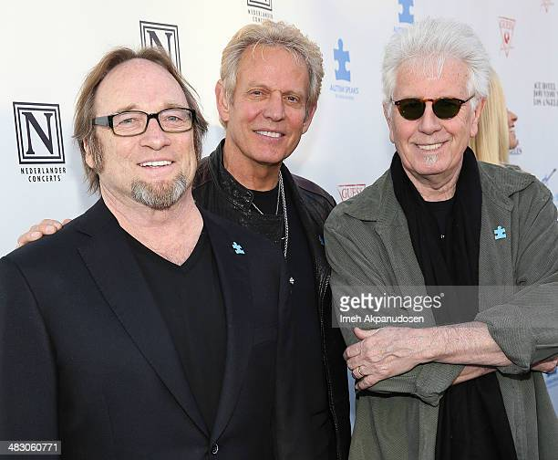 Musicians Stephen Stills Don Felder and Graham Nash attends the 2nd Light Up The Blues Concert An Evening Of Music To Benefit Autism Speaks at The...
