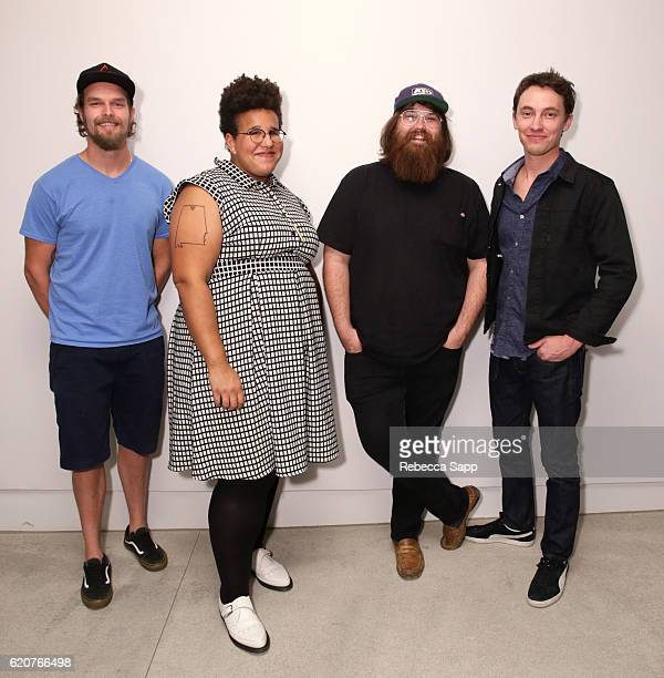 Musicians Steve Johnson Brittany Howard Zac Cockrell and Heath Fogg of Alabama Shakes attend Alabama Shakes House Concert hosted by Brian Adria Sheth...