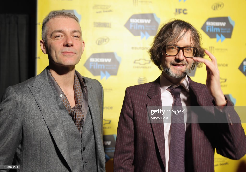 Musicians Steve Mackey (L) and Jarvis Cocker attend the 'PULP' premiere during the 2014 SXSW Music, Film + Interactive Festival at Austin Convention Center on March 9, 2014 in Austin, Texas.