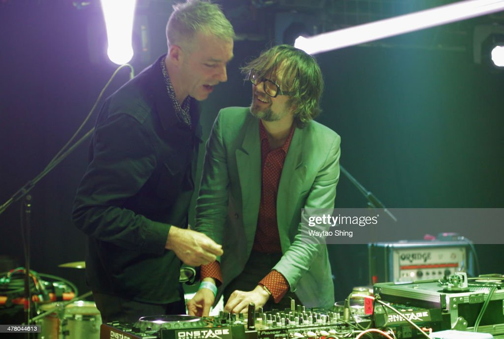 Musicians Steve Mackey and Jarvis Cocker of Desperate Sound System perform onstage at Conflict of Interest during the 2014 SXSW Music, Film + Interactive Festival at Hype Hotel on March 11, 2014 in Austin, Texas.