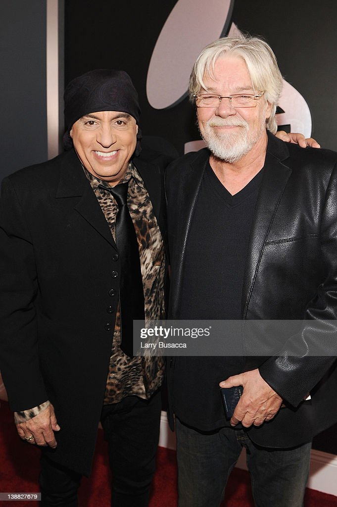 Musicians Steven Van Zandt (L) and Bob Seger arrive at the 54th Annual GRAMMY Awards held at Staples Center on February 12, 2012 in Los Angeles, California.