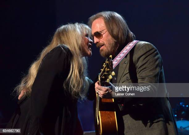 Musicians Stevie Nicks and Tom Petty perform onstage during MusiCares Person of the Year honoring Tom Petty at the Los Angeles Convention Center on...